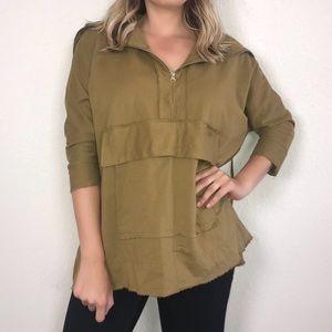 Zara Trafaluc Olive Green Sweater Top Small